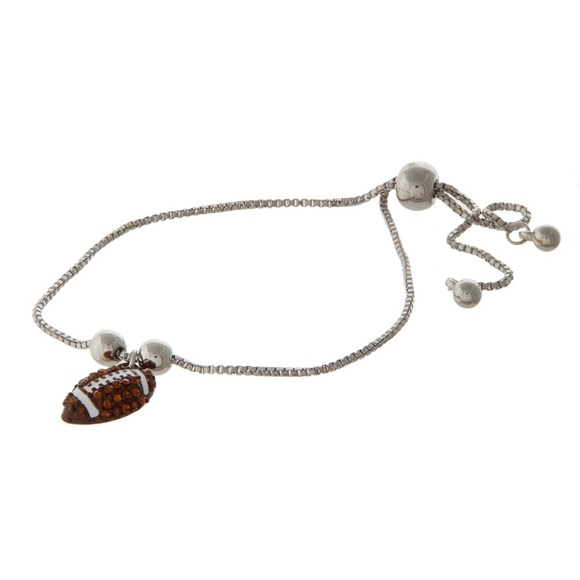One Blessed Nana Jewelry Nwt Boutique Adjustable Football Bracelet